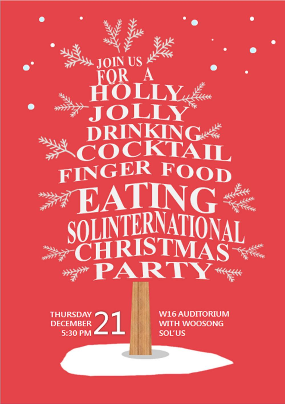 SIHOM Dept organizes Christmas Party on 21st December, Thursday - It wouldn't be Christmas Without You!!