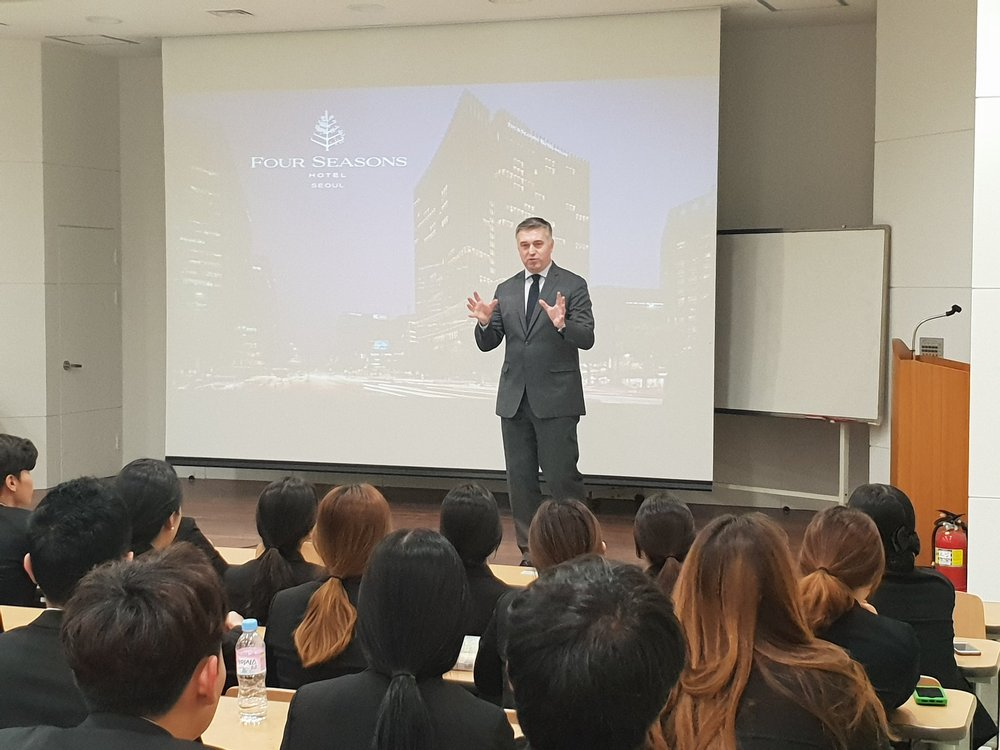 SIHOM Special Lecture_International Luxury Brand Management By Lubosh Barta- General Manager, Four Seasons, Seoul.